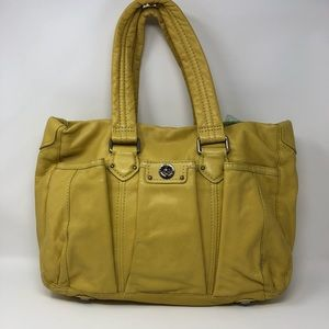 Marc Jacobs yellow leather diaper bag